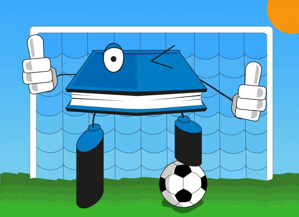 TSA Footballer Soccer Cartoon Stress Management